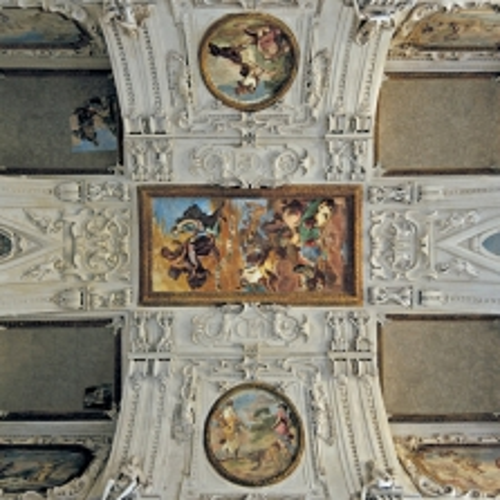 Sala di Diana. La volta di Bernardino Quadri