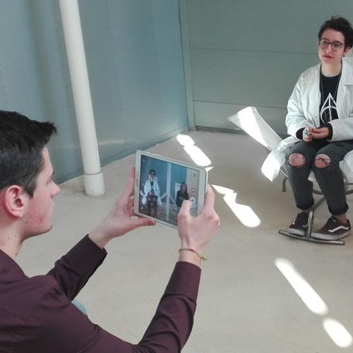 Il gruppo Comunicazione e stampa durante un'intervista