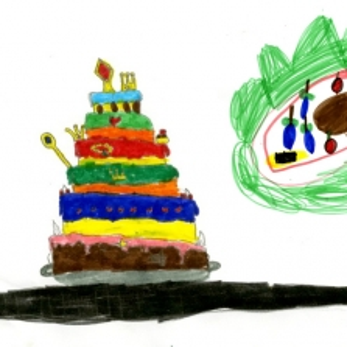 Attività Il banchetto del Re - I disegni delle torte