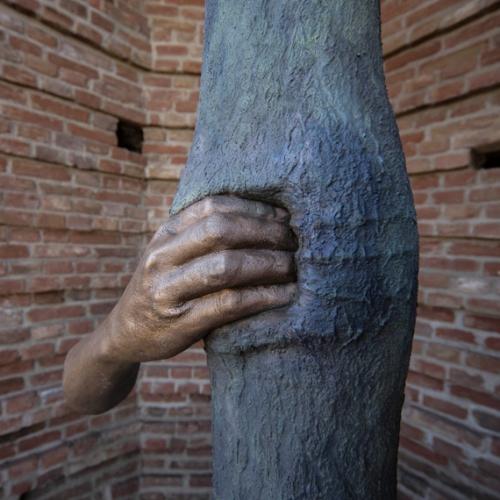 Giuseppe Penone - Anafora. Trattenere 8 anni di crescita (Continuerà a crescere tranne che in quel punto). 2004 – 2012, bronzo