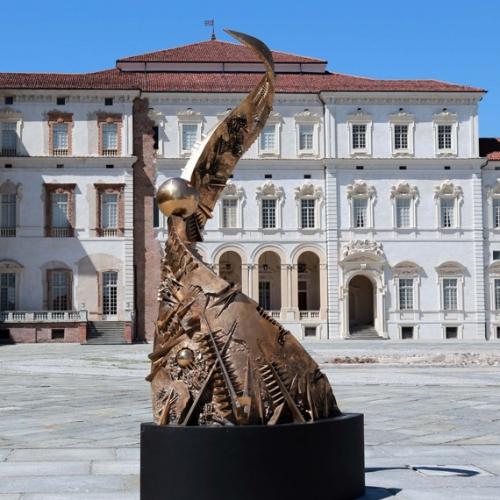Arnaldo Pomodoro: Spirale aperta, 1997/98, bronzo. Courtesy: Studio Copernico - Milano