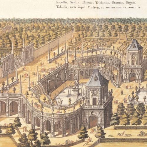 Veduta del complesso della Fontana d'Ercole, Venaria Reale, Palazzo di Piacere, e di Caccia, ideato dall'Altezza Reale di Carlo Emanuele II Duca di Savoia, 1672.