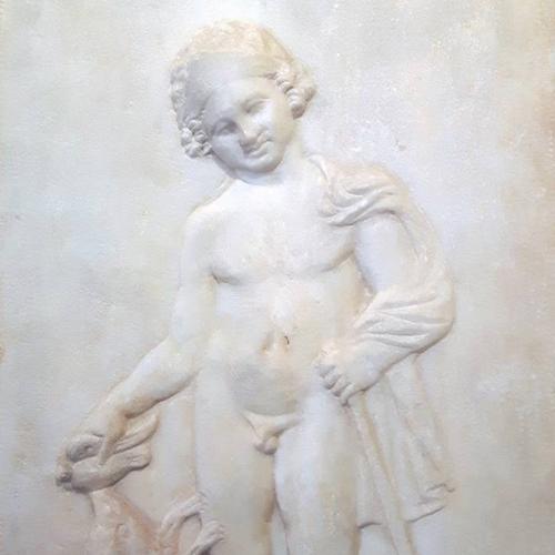 Stele funeraria, Fanciullo e cane