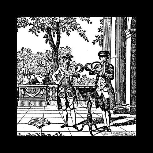 Disegni storici di cornamusa e corno