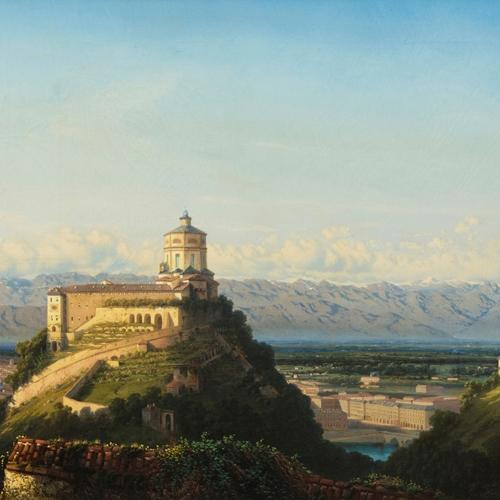 Francesco Gamba, Panorama di Torino dalla Villa Barbaroux, 1851. Roma, Galleria Antonacci Lapiccirella Fine Art.