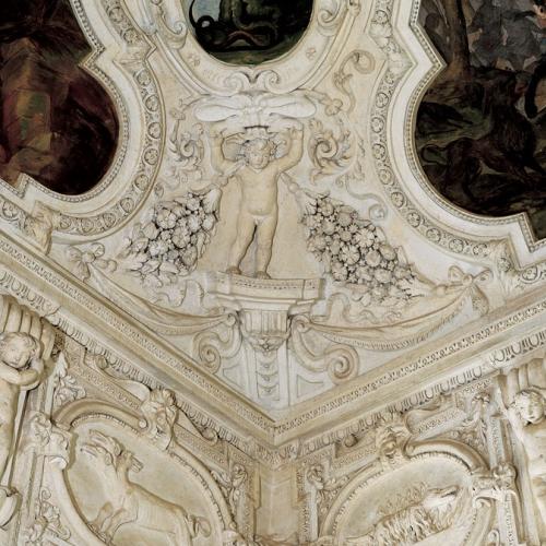 Sala delle cacce infernali. particolare della volta. Reggia di Venaria, anticamera dell'appartamento della principessa Ludovica