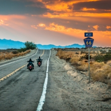 Sky Noir Photography by Bill Dickinson, Route 66 Riders © Getty Images