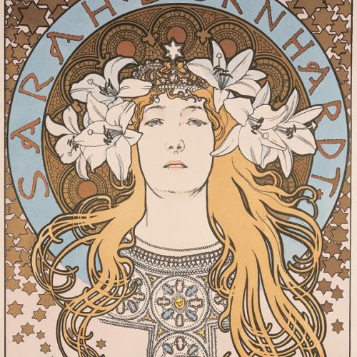 Alphonse Mucha, manifesto per l'attrice Sarah Bernhardt