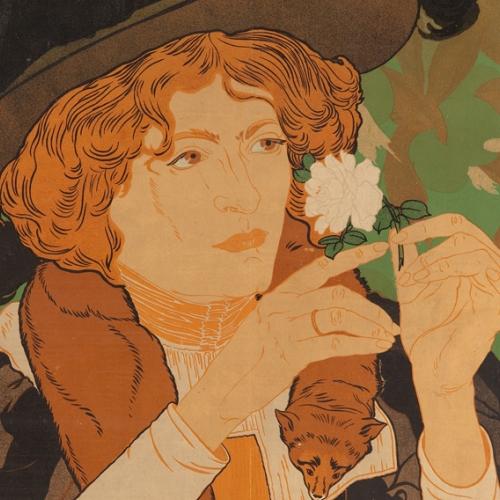 Georges de Feure, Affiche pour la 5ᵉ exposition du Salon des Cent, 1894 © Arwas Archives