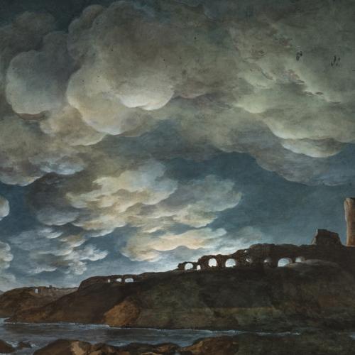 Giuseppe Pietro Bagetti, Plenilunio sul mare, 1805-1810. Torino, Pinacoteca dell'Accademia Albertina