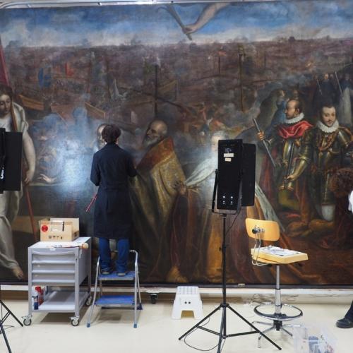 """Operazioni di ritocco pittorico @Centro Conservazione e Restauro """"La Venaria Reale"""""""