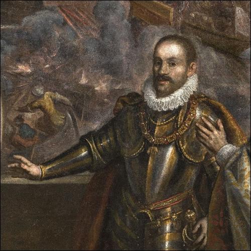 La Battaglia di Lepanto, particolare con Filippo II re di Spagna