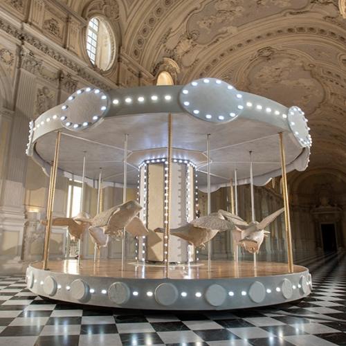The Carousel (La giostra di Nina) by Valerio Berruti in the Great Gallery of the Reggia di Venaria - Photo by Tino Gerbalo