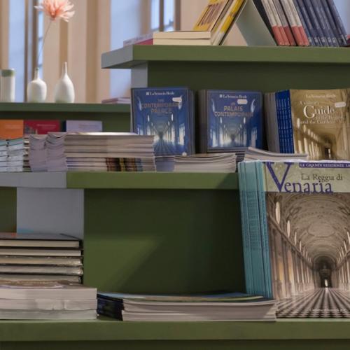 Prodotti del bookshop della Reggia di Venaria