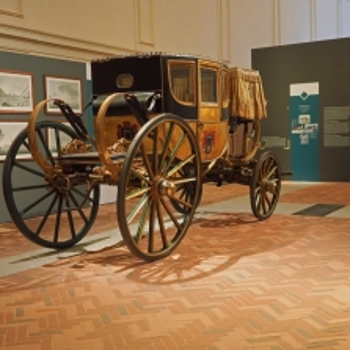 La carrozza di Napoleone nella Scuderia Grande della Reggia di Venaria