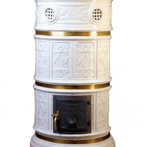 Ceramiche Cielle, Castellamonte. Stufa tradizionale realizzata con stampo originale della Fornace Pagliero