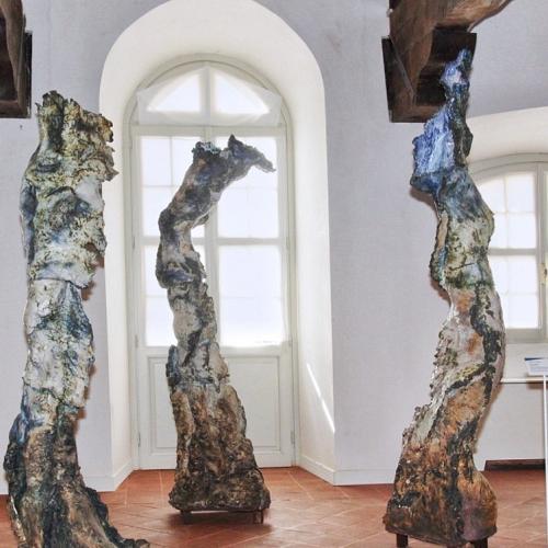 Ceramiche d'arte. La mostra. Roberto Perino, Interno emerso, sculture in gres