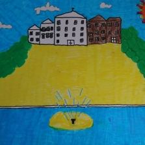 Dipinto della Reggia e i suoi Giardini, Emma, 11 anni