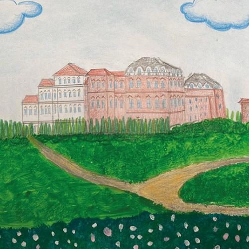 Disegno della Reggia e dei Giardini, Greta, 9 anni