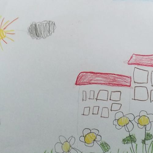 Disegno della Reggia e dei Giardini, Lorenzo, 6 anni