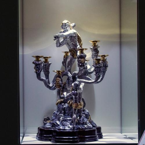 Guido Fiorentini. Candelabro di argento massiccio