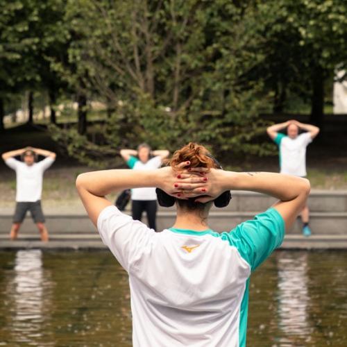 Green fitness nel Giardino delle Sculture Fluide di Giuseppe Penone