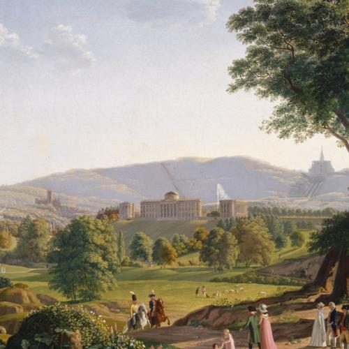 Hummel. Veduta del Castello e del Parco di Wilhemshoehe Kassel