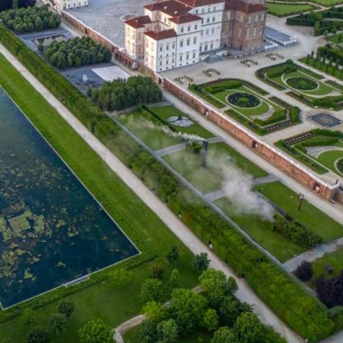 Veduta aerea dei Giardini e della Peschiera - Foto di Dario Fusaro