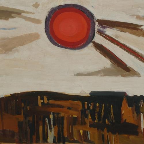 Piero Martina, Paesaggio meridionale, 1949, olio su tela