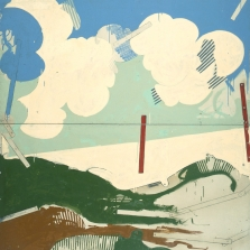Mario Schifano, Paesaggio anemico II, 1965, smalto su tela