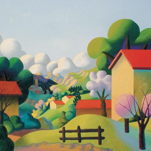 Salvo Mangione, Primavera, 1998, olio su tela