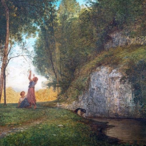 Antonio Fontanesi, La quiete, 1860 (o 1861), olio su tela