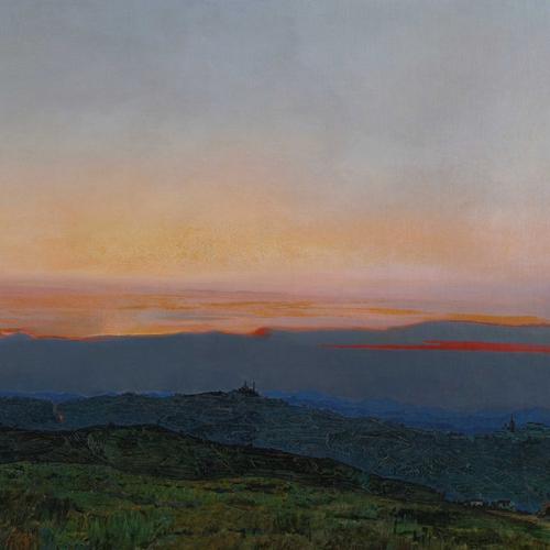 Luigi Onetti, Tramonto, 1905, olio su tela