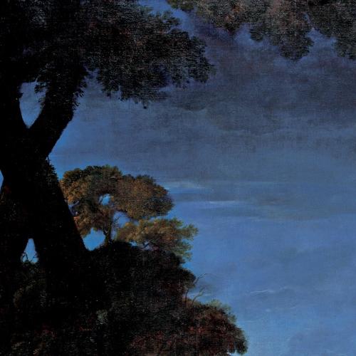 Jan Miel, L'andar al bosco, olio su tela, 1659- 1661, cm 234x132, particolare. Venaria Reale, Reggia, Sala di Diana, parete ovest (in comodato da Palazzo Madama – Museo Civico d'Arte Antica di Torino)