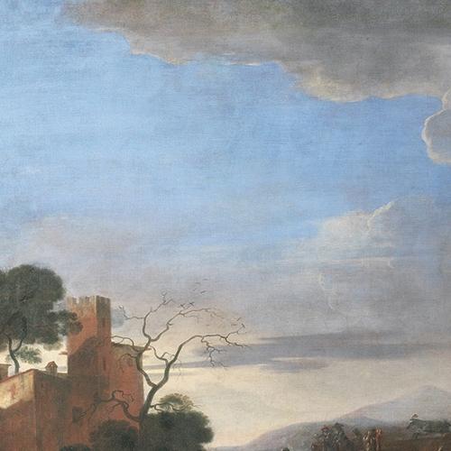 Jan Miel, La curea, olio su tela, 1661, cm h 233,5 x l 379 cm, particolare. Torino, Musei Reali - Galleria Sabauda.
