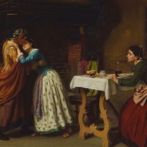 Appartamenti reali. Martino Martinotti, Lucia Mondella a casa della sarta, 1866