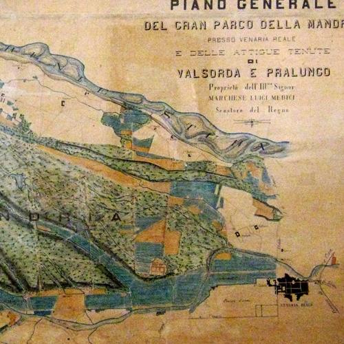 Mappa della Tenuta della Mandria, 1892