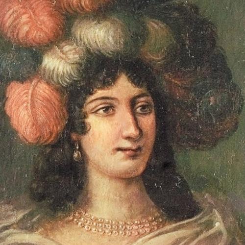 B. Mathieu, Caterina Isnardi di Caraglio marchesa di Caluso e Delibera Eleonora San Martino di Parella marchesa di Rodi, part. volto di Caterina