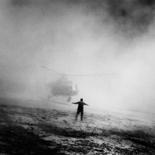Helicopter used by U.S. and Afghan drug interdiction troops. Afghanistan, 2006. ©Paolo Pellegrin/Magnum Photos