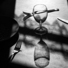 Quarantine project. The table in the farmhouse. Switzerland, 2020. ©Paolo Pellegrin/Magnum Photos