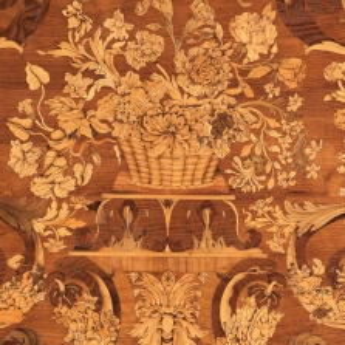 Pietro Piffetti, Tavolo da muro. Dettaglio dell'intarsio