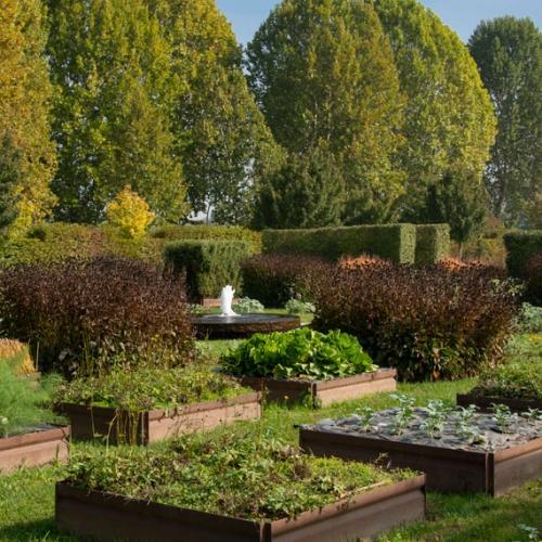 Potager Royal, cubotti di verdure e fioriture - Foto di Dario Fusaro