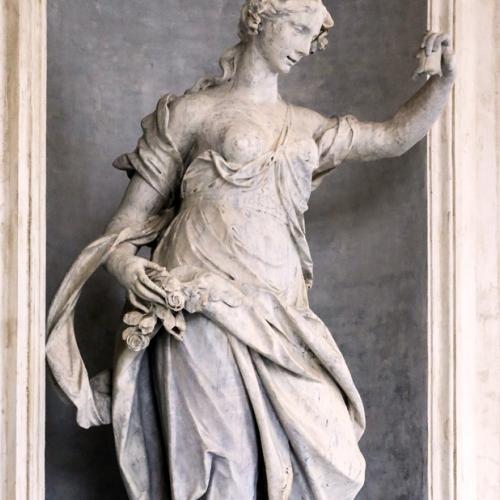 Simone Martinez (Messina 1689-Torino 1768), La Primavera, 1741-1752, marmo bigio di Frabosa, altezza 235 cm.
