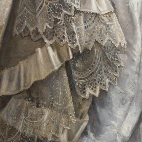 Il ritratto di Maria Adelaide d'Asburgo Lorena, particolare del vestito