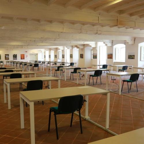 La sala studio della Reggia nelle Sale dei Paggi