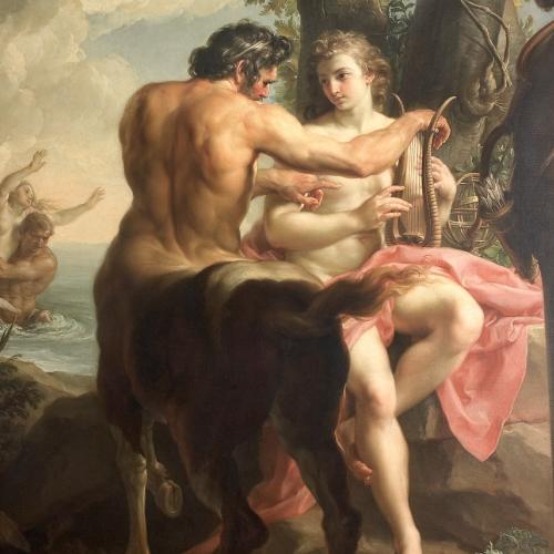 Pompeo Batoni. Educazione di Achille, olio su tela. 1746, Firenze,Gallerie degli Uffizi