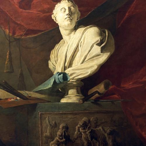 Jean Simeon Chardin. Gli attributi delle arti. olio su tela. 1731, Parigi, Musée Jacquemart-André