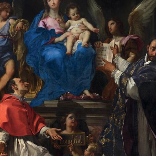 Carlo Maratti, Madonna col Bambino tra i santi Carlo Borromeo e Ignazio di Loyola, 1672-1679 ca, Roma, Chiesa di Santa Maria in Vallicella (FEC);