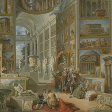 Giovanni Paolo Pannini, Roma Antica, oil on canvas, 1757, New York, The Metropolitan Museum of Art