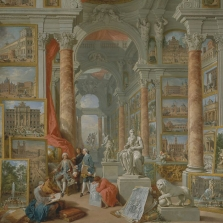Giovanni Paolo Pannini, Roma Moderna, oil on canvas, 1757, New York, The Metropolitan Museum of Art